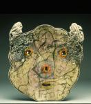 Large Platter w Orange Nose and Drawing